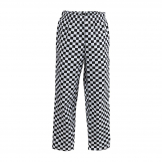 Whites Easyfit Trousers Teflon Big Black Check XS