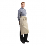 Chef Works Soho Wide Bistro Apron with Pocket Natural