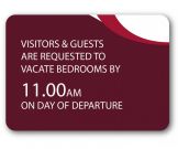 A5 Visitors & Guest Valuables Guest Information Notice - GH023 - Multiple Colours
