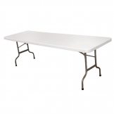 Bolero Rectangular Centre Folding Table White 8ft (Single)