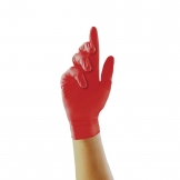Pearl Powder-Free Nitrile Gloves Red Large (Pack of 100)