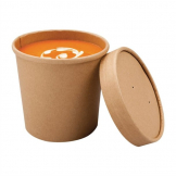 Colpac Recyclable Kraft Microwavable Soup Cups 350ml / 12oz (Pack of 500)