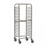 Bourgeat Double Gastronorm Racking Trolley 15 Shelves
