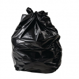 Jantex Large Medium Duty Black Bin Bags 70Ltr (Pack of 200)