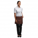 Chef Works Short Bistro Apron Chocolate
