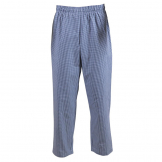 Whites Easyfit Trousers Teflon Blue Check S