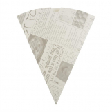 Colpac Biodegradable Newspaper Print Paper Chip Cones 183mm (Pack of 1000)