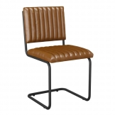 Tyra Side Chair in Vintage Tan Leather