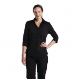 Chef Works Womens Stretch Shirt Black M