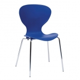Bolero Blue Stacking Plastic Side Chairs (Pack of 4)