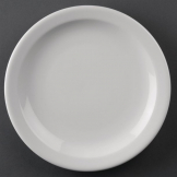 Athena Hotelware Narrow Rimmed Plates 205mm (Pack of 12)