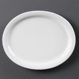 Olympia Whiteware Oval Platters 202mm (Pack of 6)