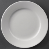 Athena Hotelware Wide Rimmed Plates 165mm (Pack of 12)