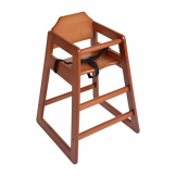 Bolero Wooden Highchair Dark Wood Finish (Single)