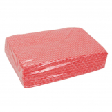 All-Purpose Non-Woven Cleaning Cloths Red (Pack of 500)