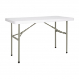 Bolero PE Rectangular Folding Table White 4ft (Single)