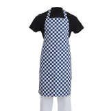 Whites Bib Apron Blue And White Check