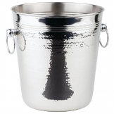 APS Hammered Stainless Steel Wine And Champagne Bucket