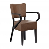 Club Armchair - Distressed Bark Lascari Faux Leather