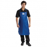 Burnguard Nylon QuicKlean Bib Apron Blue