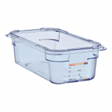 Aravan ABS Food Storage Container Blue GN 1/3 100mm