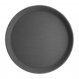 Kristallon Polypropylene Round Non-Slip Tray Black 356mm