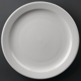 Athena Hotelware Narrow Rimmed Plates 254mm (Pack of 12)