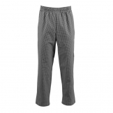 Whites Easyfit Trousers Teflon Black Check L