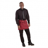 Whites Short Bistro Apron Burgundy