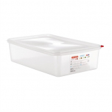 Araven Polypropylene 1/1 Gastronorm Food Containers 13.7Ltr with Lid (Pack of 4)