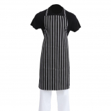 Whites Bib Apron Butchers Stripe Black