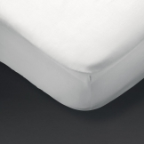 Essentials Pyramid Fitted Sheet White Single (120 TC, Cotton)