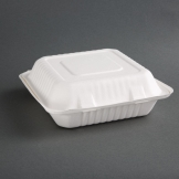 Fiesta Green Compostable Bagasse Hinged Food Containers 237mm (Pack of 200)