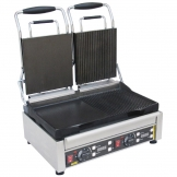 Buffalo Double Contact Grill Half Flat
