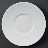 Olympia Whiteware Elegant Saucers 148mm (Pack of 12)