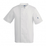 Whites Vegas Unisex Chef Jacket Short Sleeve White - XL