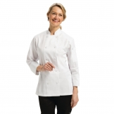 Chef Works Marbella Womens Executive Chefs Jacket White XS
