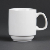 Olympia Whiteware Stacking Mugs 284ml 10oz (Pack of 12)
