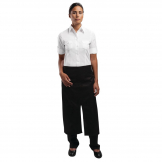 Chef Works Bistro Apron Split Front Black