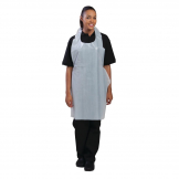 Disposable Polythene Bib Aprons 14.5 Micron White (Pack of 100)