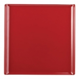 Alchemy Buffet Red Melamine Square Trays 303mm (Pack of 4)