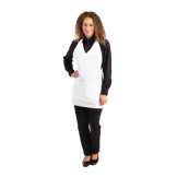 Whites V Neck Service Apron White