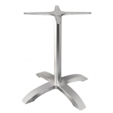 Bolero Brushed Aluminium Four Leg Table Base