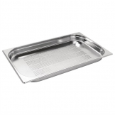 Vogue Stainless Steel Perforated 1/1 Gastronorm Pan 40mm