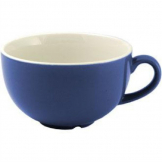 Churchill New Horizons Colour Glaze Cappuccino Cups Blue 340ml (Pack of 24)