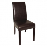 Bolero Curved Back Leather Chairs Dark Brown (Pack of 2)