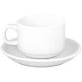 SPECIAL OFFER Athena Hotelware Stacking Tea Cup And Saucer Combo (Pack of 24)