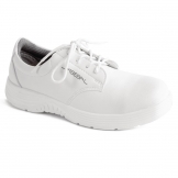 Abeba X-Light Microfiber Lace Up Safety Shoe White 43