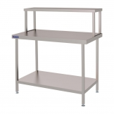 Holmes Stainless Steel Wall Table Welded with Gantry 1800mm