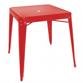 Bolero Bistro Square Steel Table Red 815mm